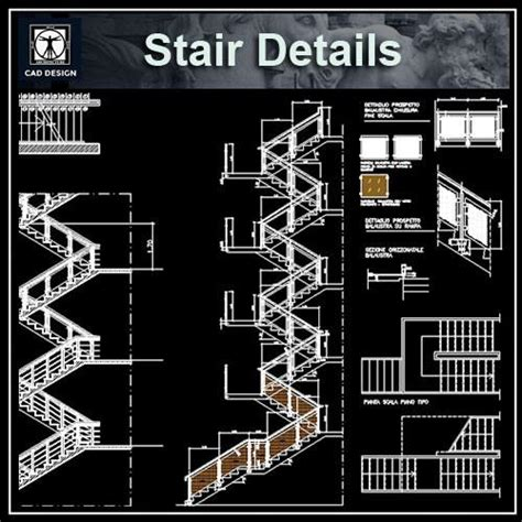 free rc stair details cad design free cad blocks drawings details