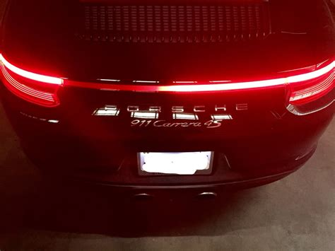 rear light strip  cs burned  rennlist porsche