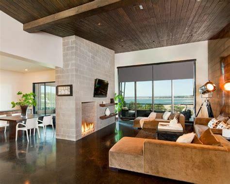 floor  ceiling fireplace houzz