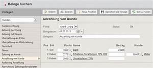 Anzahlung Rechnung : buchen von erhaltenen anzahlungen mit der online buchhaltungssoftware collmex ~ Themetempest.com Abrechnung