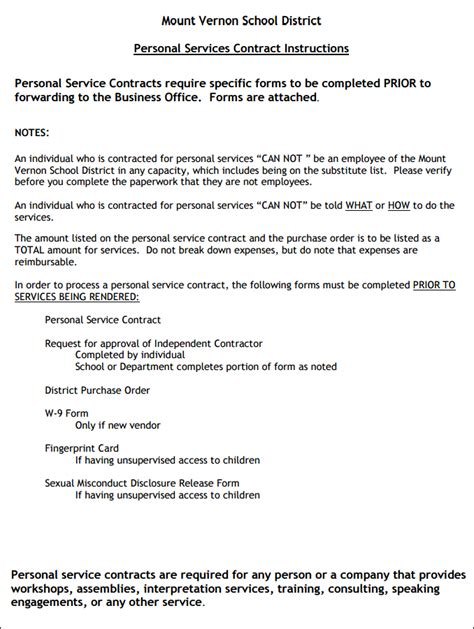 Personal Services Agreement Template by Personal Services Agreement Template 28 Images Service