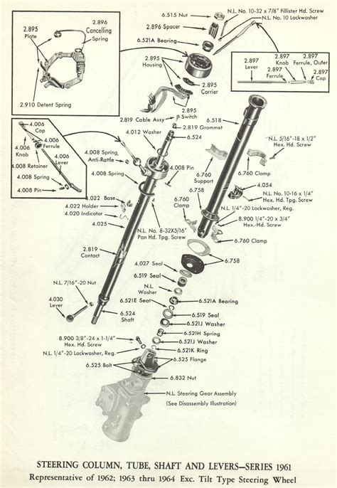 Steering Wheel Column Wiring Diagram by 1962 Chevrolet Steering Column Diagram Wiring Diagram