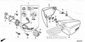 Honda Motorcycle 2012 Oem Parts Diagram For Side Cover 1
