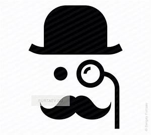 Gentleman with monocle vector icon