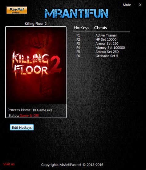 killing floor 2 cheats killing floor 2 trainer 5 v1027 mrantifun download cheats codes trainers