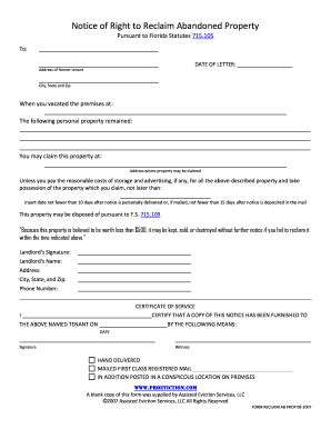 printable eviction notice pa forms  templates