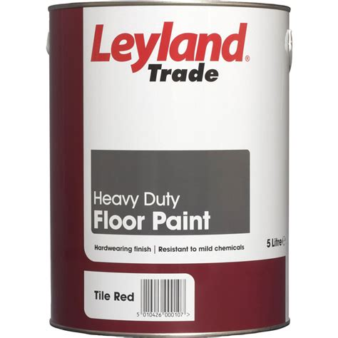 garage floor paint leyland leyland trade floor paint tile red 5l toolstation