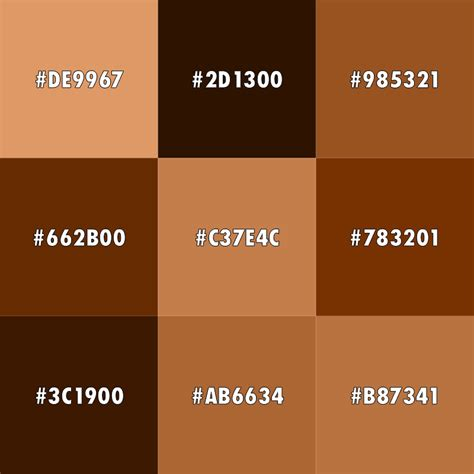 brown color meaning the color brown