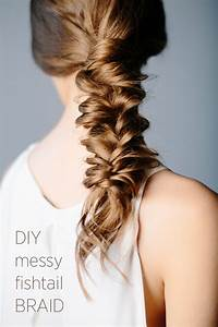 DIY Messy Fishtail Braid DIY Weddings OnceWed com