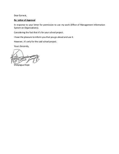 letter  approval earnest