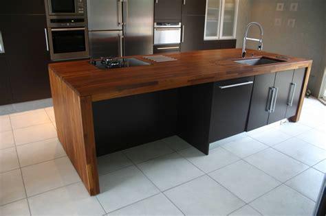 cuisine plan travail bois cuisine noir plan de travail bois