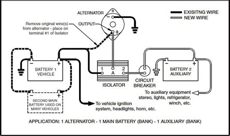 Boat Battery Isolator Wiring by Battery Isolator Wiring Diagram Wiring Diagram And