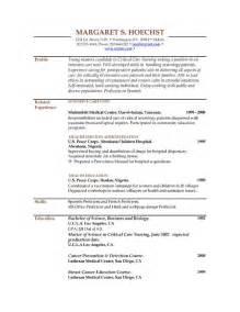 free lvn resume templates resume exles resume exles