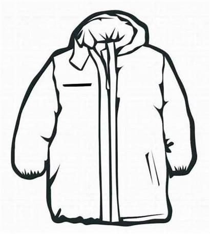 Coat Coloring Winter Clothes Invierno Colorear Jacket