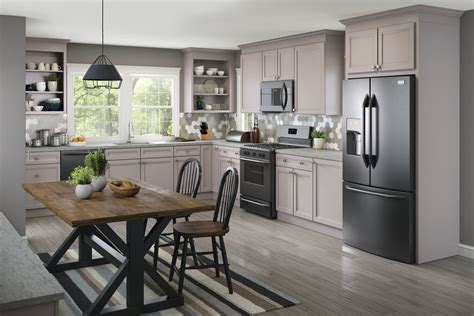 Gray Kitchen Cabinets by Cardell Kitchen Cabinets Slisbee Maple In Pebble Grey
