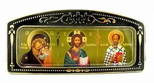 Car Icon Virgin of Kazan, Christ The Teacher, St Nicholas ...
