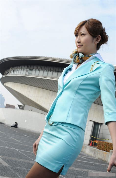 Asian Sexy Stewardess Costume ~ World Stewardess Crews