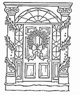 Door Coloring Christmas Pages Adult Drawings Sheets Drawing Printable Adults Outline Pb Books Icolor Easy Embroidery Getcolorings Gazo sketch template