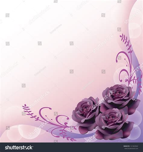 purple roses background pattern layout design stock vector