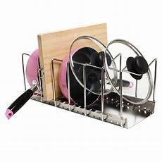 Pan Pot Lid Rack Holder Kitchen New Organizer Storage