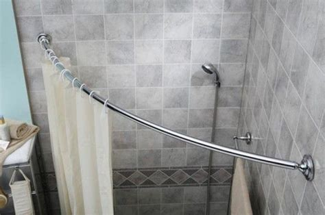 sweet design curved shower curtain rod decorate with a