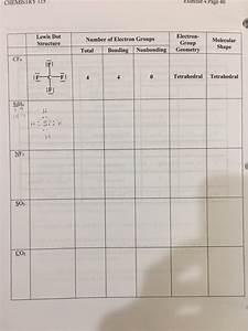 Solved  Chemistry I1 Exercise 4 Page 40 Electron Molecular