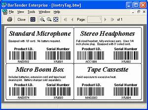 seagull bartender barcode label design software With bartender barcode label software