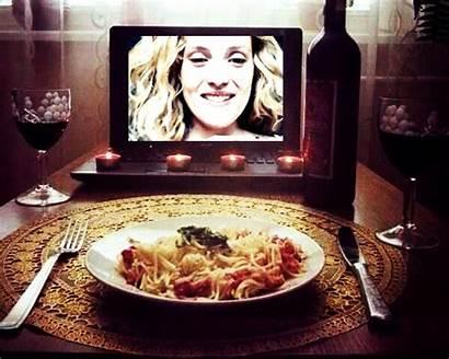 Distance Dinner Skype Valentine Date Arrange Couples