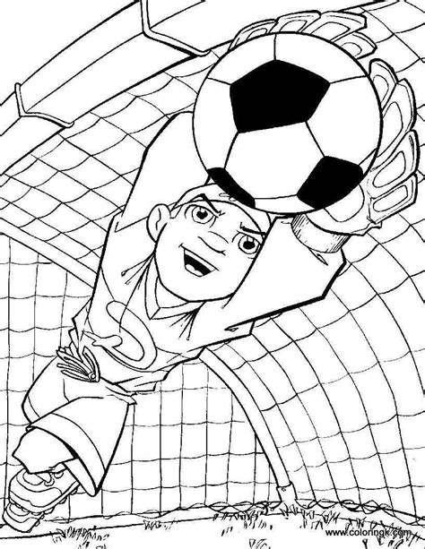 goalkeeper coloring page soccer coloring pages sports