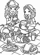 Coloring Picnic Pages Para Hobbie Holly Children Colorear Dibujos Printable March Picknick Colouring Autumn Mid Festival Kleurplaten Books Disney Picnics sketch template