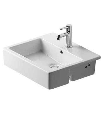 duravit 03145500 vero 21 5 8 inch semi recessed bathroom sink