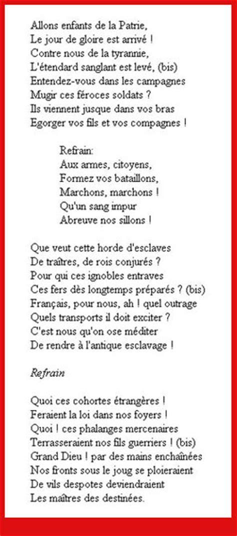 Testo Inno Nazionale Francese Marsigliese Testo Gallery