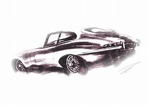 Jaguar E Type Sketch