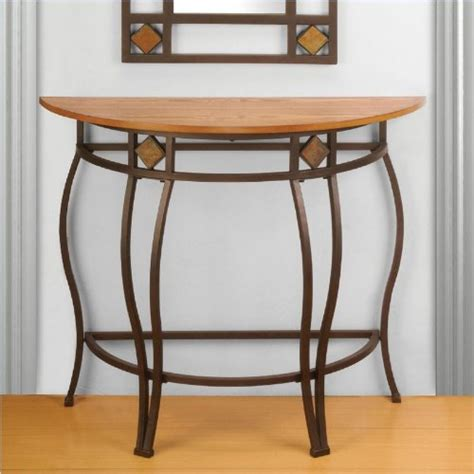 Half Moon Console Table End Tables Accent Living Room. Power Chairside End Table. Circle Tables. Hideaway Desk Cabinet. Wedding Table Card Holders. Wire Mesh Desk Organizer. Industrial Looking Desk. 36 Table. Parts Drawer Cabinet