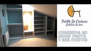 Dressing En Palette : dressing en sous pente 1ere partie youtube ~ Melissatoandfro.com Idées de Décoration