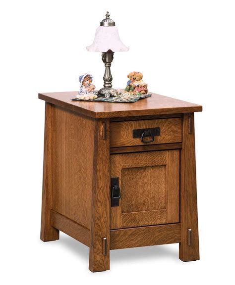 Lighted End Tables Living Room Furniture by Modesto Enclosed End Table Amish Direct Furniture