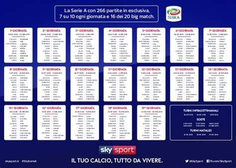 calendario serie calcio