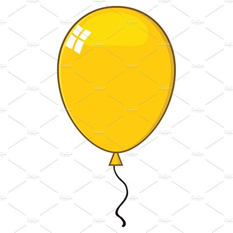 clipart illustrations yellow balloon illustrations creative market
