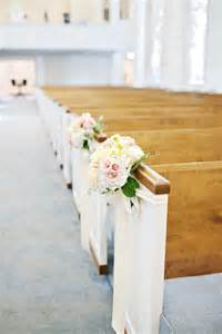 wedding decoration ideas 11 blush ivory pew flowers royal baptist