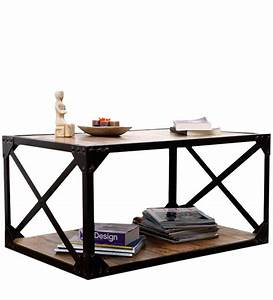 Industrial looking coffee table by wood dekor by wood for Looking for coffee tables