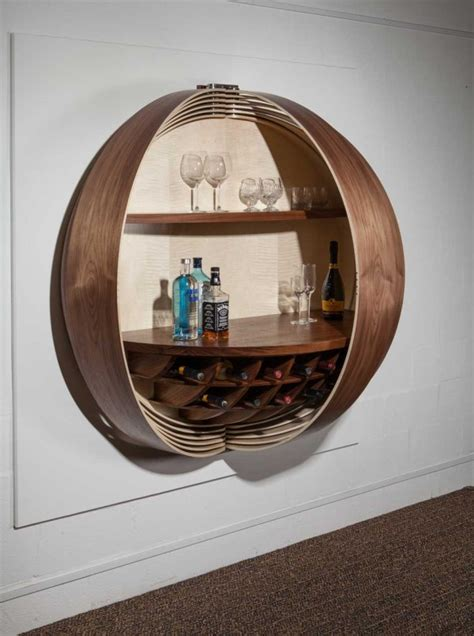gorgeous wall mounted bar cabinet   show stopping