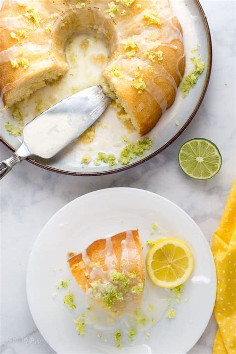 scratch lemon lime bundt cake plating pixels