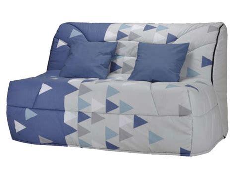 housse canapé bz conforama housse pour bz prima 140 cm prima triangle coloris bleu