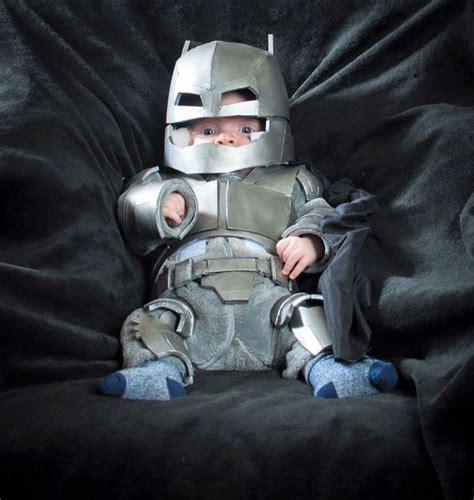 insanely cute armor batman baby cosplay geektyrant