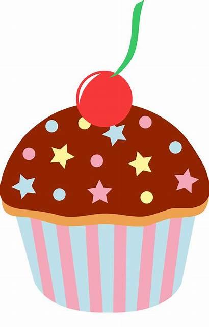 Cupcake Chocolate Cherry Sprinkles Clip Sweetclipart Sprinkled
