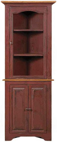 small corner hutch colonial pine small corner cupboard with glass corner