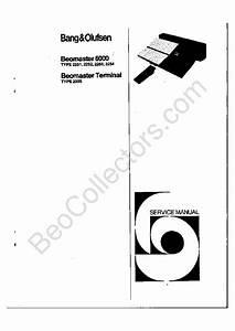 Bang Olufsen Beomaster 6000 Service Manual