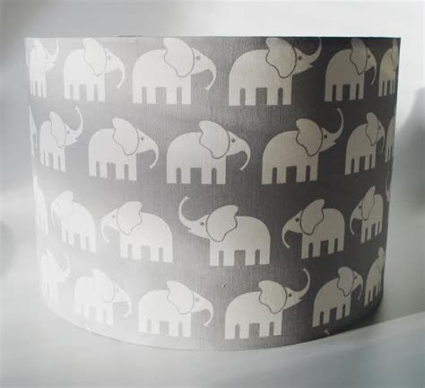 elephant grey fabric lshade for ceiling or bedside
