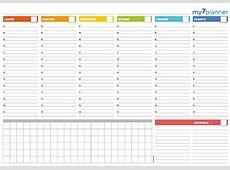 Planner settimanale da stampare