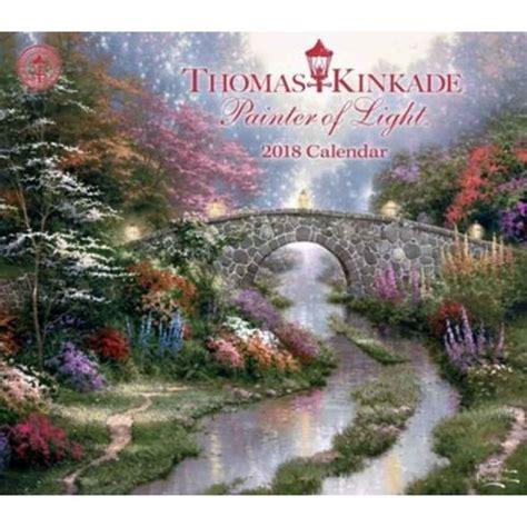 kinkade painter light wall calendar garden flower pinterest